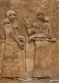 Sargon II king of Assyria with Sennacherib