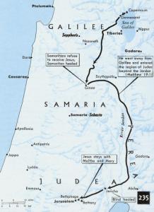 Jesus' Journey Map